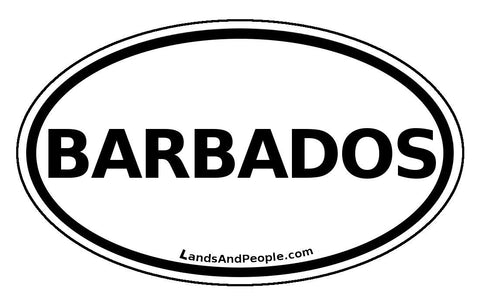 Barbados Car Bumper Sticker Decal