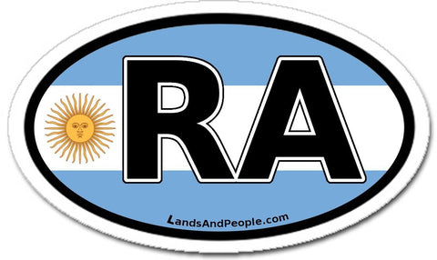 RA - República Argentina in Spanish Car Bumper Sticker Decal