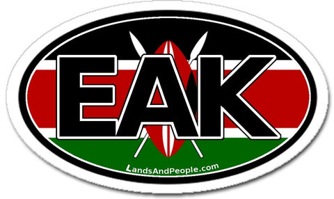 EAK Kenya Car Bumper Sticker Decal Oval
