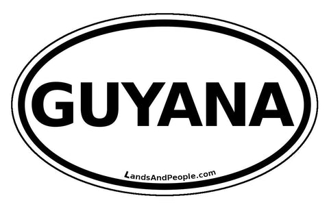 Guyana Car Bumper Sticker Decal