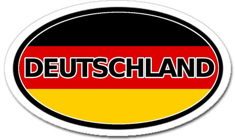 Deutschland Germany Flag Sticker Oval
