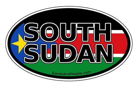 South Sudan Flag Sticker Oval
