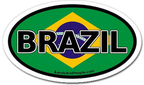 Brazil Flag Car Bumper Sticker Decal