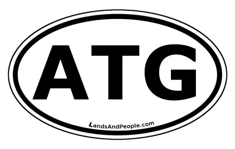 ATG Antigua and Barbuda Car Bumper Sticker Decal