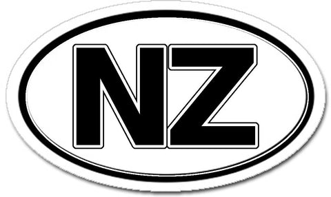 NZ New Zealand Car Bumper Sticker Decal