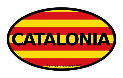Catalonia Catalan Flag Car Sticker Oval