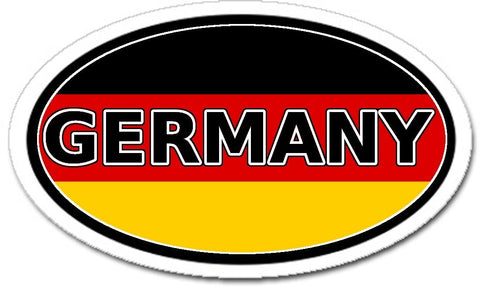 Germany and German Flag Vinyl Sticker Oval