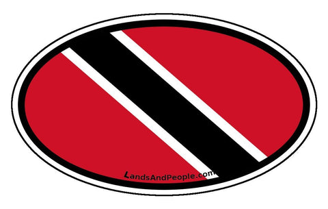 Trinidad and Tobago Flag Car Bumper Sticker