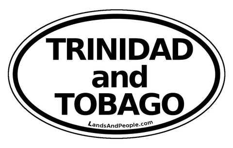 Trinidad and Tobago Car Bumper Sticker Decal