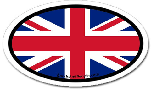 United Kingdom Great Britain British Flag Sticker Oval