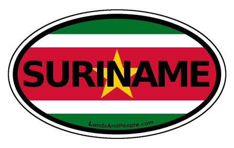 Surinam Car Bumper Sticker Decal