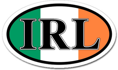 IRL Ireland Irish Flag Car Bumper Sticker Decal Oval