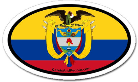 Colombia Car Bumper Sticker Decal