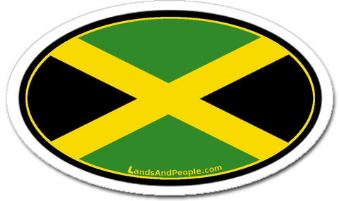 Jamaica Flag Sticker Decal