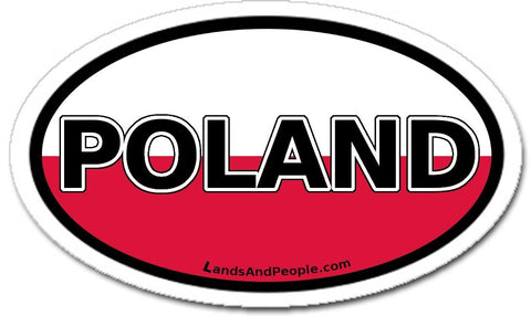 Poland Flag Sticker Oval