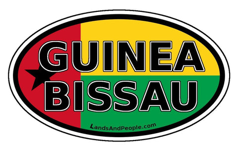 Guinea Bissau Flag Sticker Oval