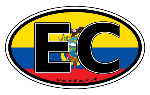 EC Ecuador Flag Car Bumper Sticker