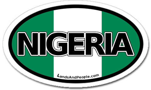 Nigeria Sticker Oval
