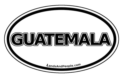 Guatemala Car Bumper Sticker Decal