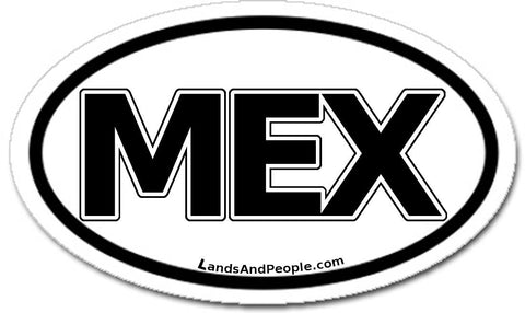 MEX Mexico Car Bumper Sticker Decal