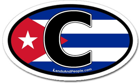 C Cuba Flag Car Bumper Sticker Decal