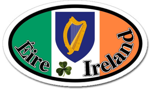 Éire Ireland Irish Flag Car Sticker Decal Oval