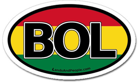 BOL Bolivia Car Bumper Sticker Decal