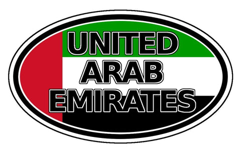 United Arab Emirates Sticker Oval