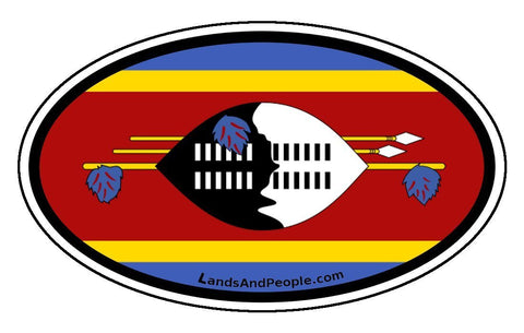 Swaziland Flag Car Bumper Sticker Decal