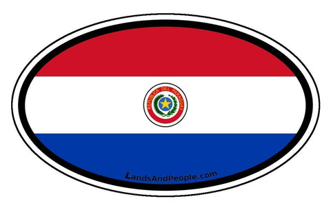 Paraguay Flag Car Bumper Sticker Decal