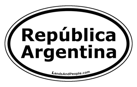 República Argentina in Spanish Car Bumper Sticker Decal