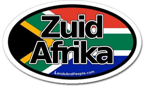 Zuid Afrika South Africa Flag Car Sticker Oval