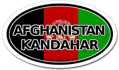 Afghanistan Kandahar Flag Sticker Oval