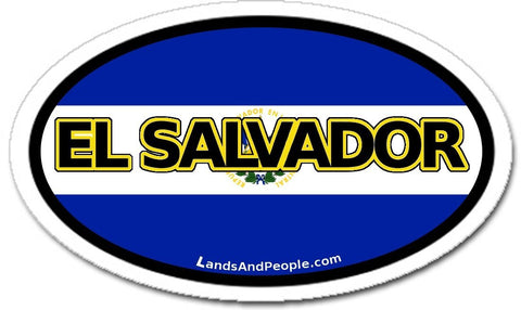 El Salvador Flag Car Bumper Sticker Decal