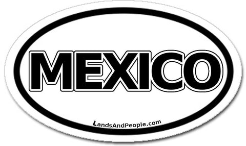 Mexico Car Bumper Sticker Decal