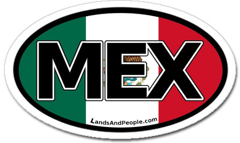 MEX Mexico Flag Car Bumper Sticker Decal