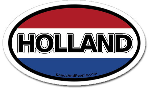 Holland Flag Sticker Oval
