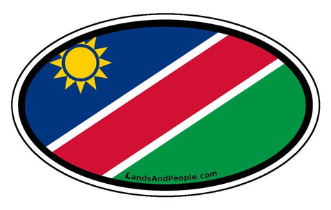 Namibia Flag Car Bumper Sticker Oval