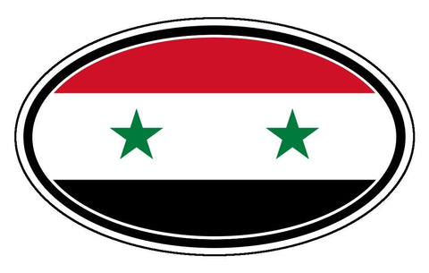 Syria Flag Sticker Oval