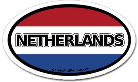 Netherlands Flag Sticker Oval