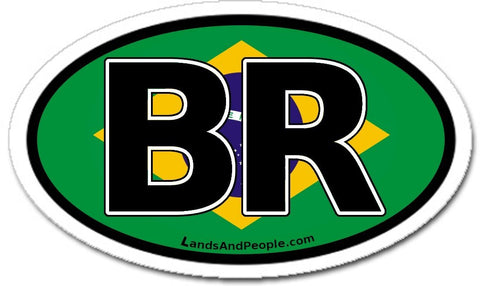 BR Brazil Flag Car Bumper Sticker Decal