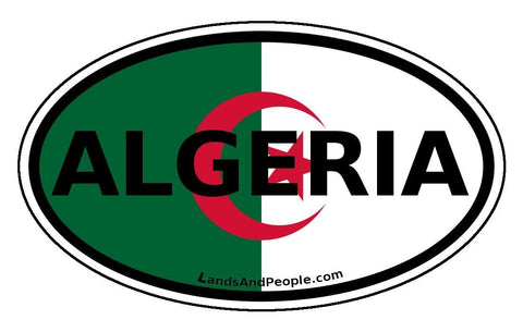 Algeria Flag Sticker Oval