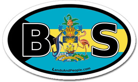 BS Bahamas Flag Car Sticker Decal