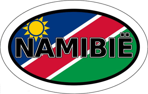 Namibië in Afrikaans Namibia Flag Car Bumper Sticker Oval