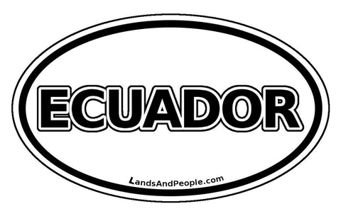 Ecuador Car Bumper Sticker