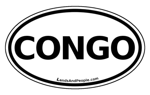 Congo Sticker Decal Oval