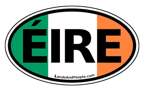 Eire Ireland Flag Car Bumper Sticker Decal Oval