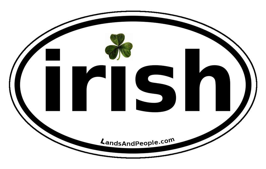 Irish clover car sticker decal oval