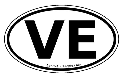 VE Venezuela Car Bumper Sticker Decal