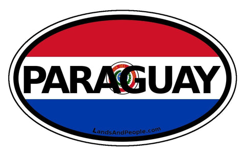 Paraguay Car Bumper Sticker Decal
